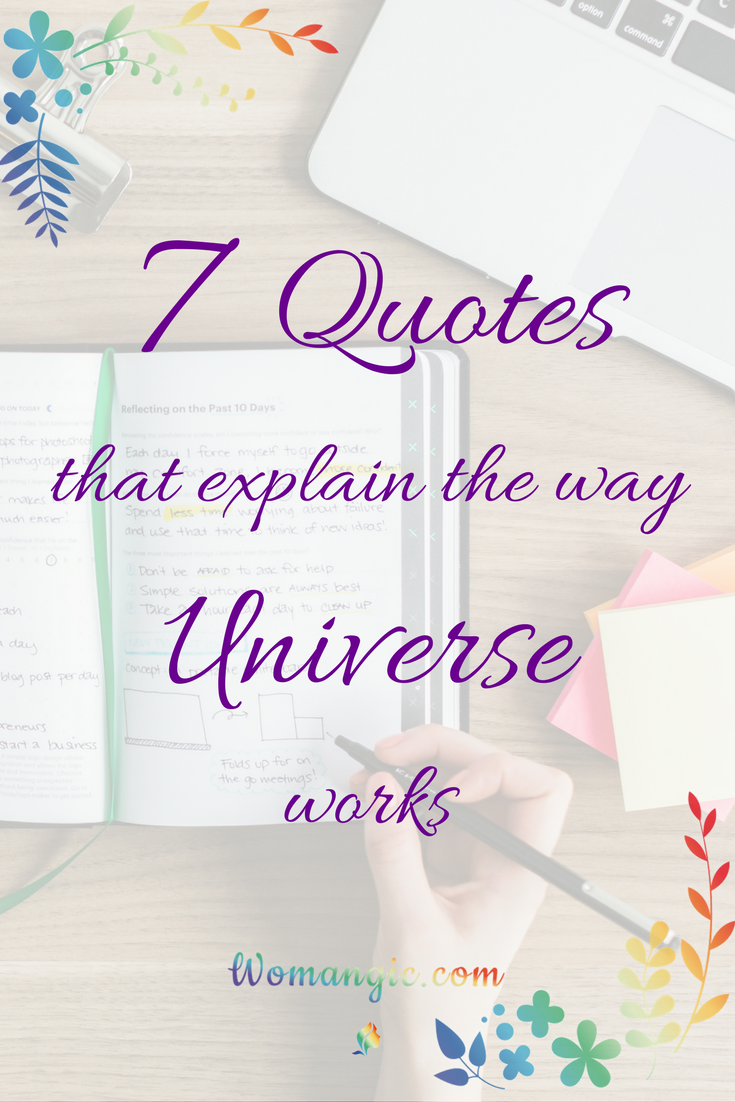 7 Quotes You Need to Know to Understand How Universe works